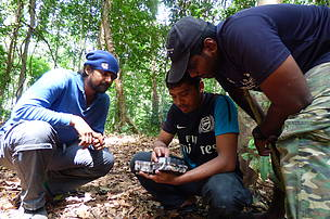 Learning to set a camera trap - a vital tool in wwf conservation.