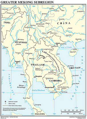 Countries of the Greater Mekong Region  © UN Department of Peacekeeping Operations Cartographic Section