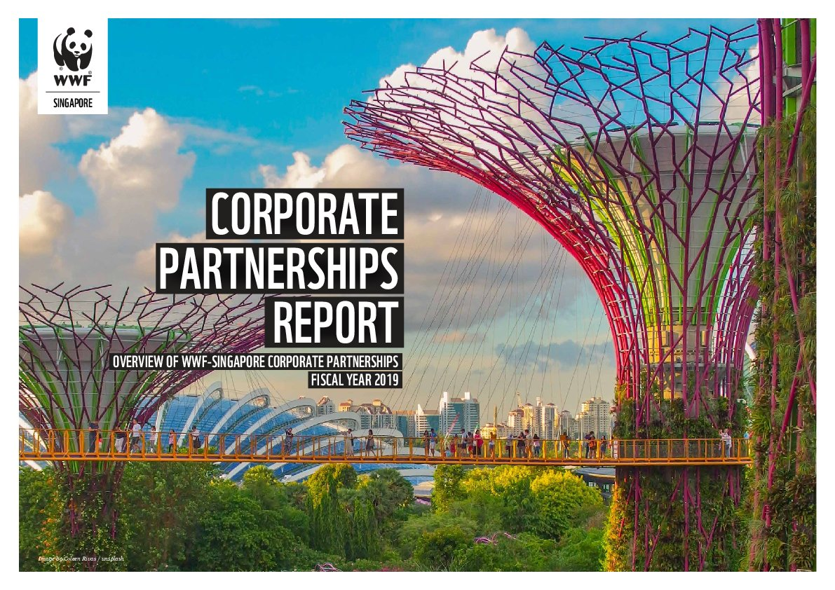 Corporate Partnerships Annual Report FY19 Cover