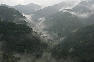 The misty mountain ranges of Kayah Karen Tenasserim ecoregion.